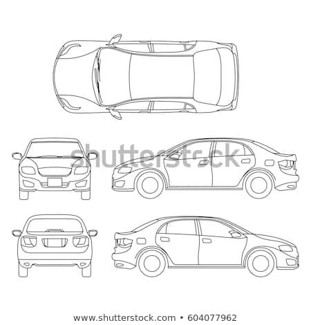 vector images illustrations  cliparts outline sedan