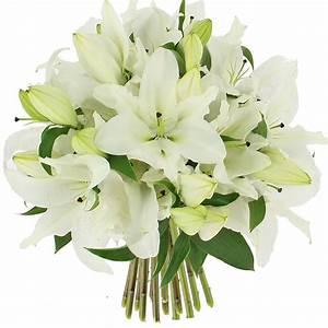 Bouquet Fleurs Blanches : livraison bouquet de lys blanc format classique ~ Premium-room.com Idées de Décoration