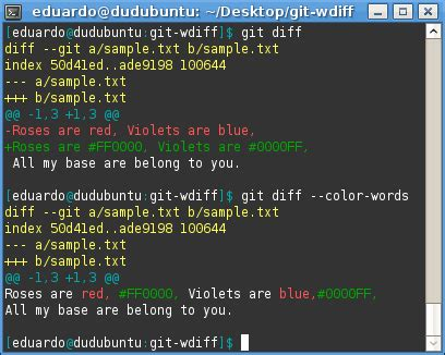 git color word by word diffs in git idnotfound s