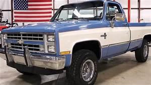 1987 Chevy K 10 Blue