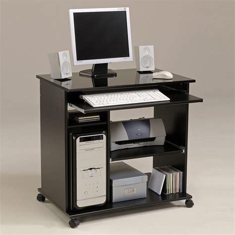 bureau sur roulettes bureau informatique sur quot peps quot noir