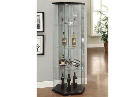 Coaster Contemporary Glass Curio Cabinet In Black by Quality Furniture Wa Black Curio Cabinet
