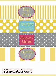 52 mantels diy water bottle labels plus a free printable With free water bottle stickers