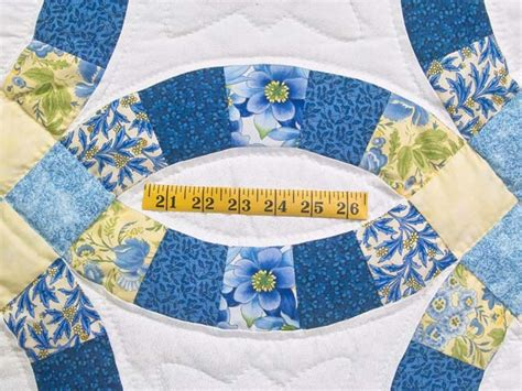 blue and yellow wedding ring quilt photo 5