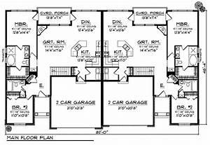 Plan 89295ah duplex home plan with european flair for Architectural designs duplex plans