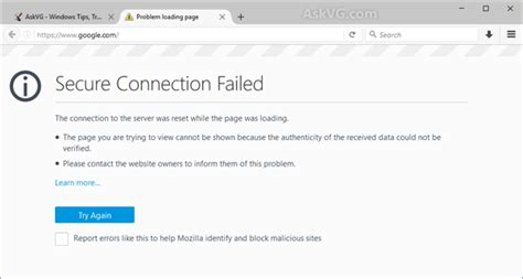 fix secure connection failed problem in mozilla