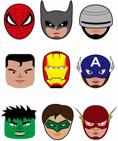 Superhero Superheroes Cartoon Vector Head Marvel Clipart