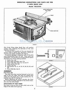 Craftsman 103 22181 Operating Instructions And Parts List
