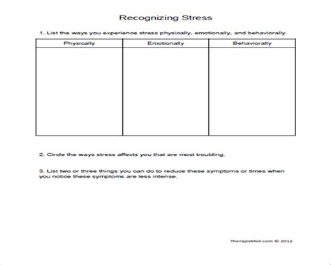 7 best images of stress worksheets printable stress