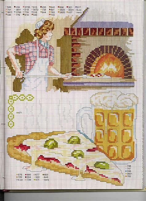 point de croix cuisine cuisine pizza et le four toutes les grilles com grilles
