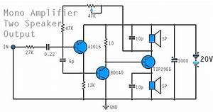 circuit diagram mono power amplifier a1015 bd140 tip2955 With mono power amplifier a1015 bd140 tip2955 circuit diagram