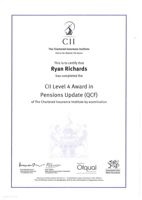 518942 and is a company limited by guarantee, with permission to omit the suffix 'clg' from its name. Richards R - R08 Certificate - 22.12.15