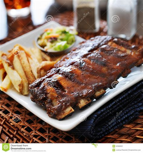sides that go with ribs barbecue rib meal with sides stock photo image 43366051