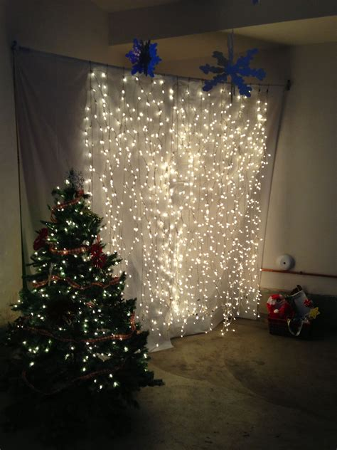 Background Winter Backdrop Ideas by Lights Hanging Against A Back Drop As A Photo