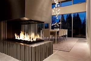 la deco avec une cheminee contemporaine With salle de bain design avec décoration de buche de noel comestible