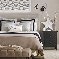 Neutral Bedroom With Black Accents  Traditional Bedroom