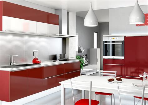 cuisine blanche  rouge idees shopping deco clem