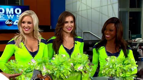 sea gals debut action green   seahawks