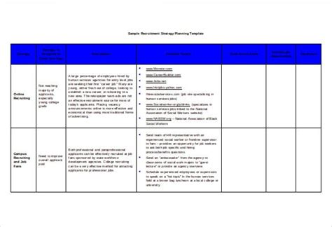 recruitment strategy templates  docs  ms word