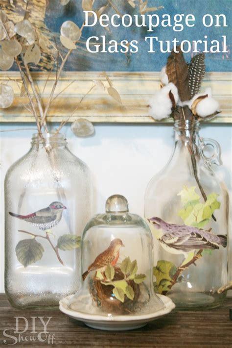 diy   decoupage glass bottle  inspired room