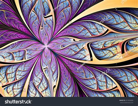 blue purple butterfly on flower abstract stock