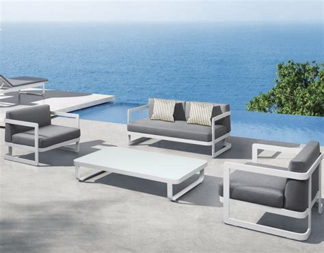 white modern outdoor furniture applying the modernity from the outside by purchasing the modern outdoor furniture midcityeast