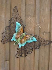 Wicker metal butterfly mondus distinction garden decor