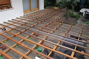 Realiser Un Plancher Bois : monter une terrasse bois avec double lambourdage ~ Dailycaller-alerts.com Idées de Décoration