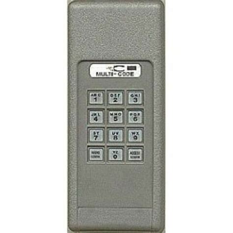 Linear Garage Door Opener Keypad by Multi Code 298601 Wireless Garage Door Gate Opener Keypad