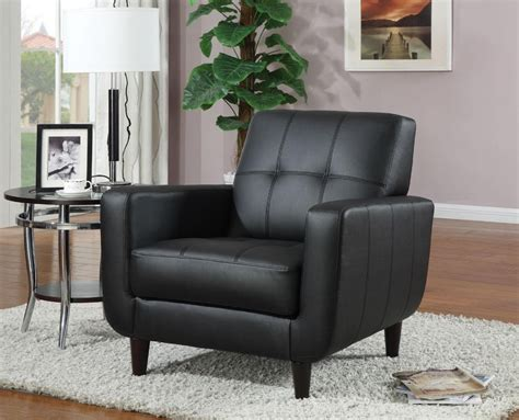Black Vinyl Accent Chair 900204 From Coaster (900204