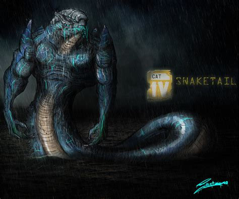 Pacific Rim Kaiju Codename  Snaketail By Santoski On