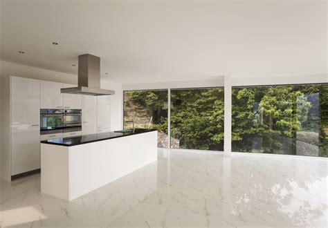 modern kitchen tile flooring kitchen design with calacatta gold marble floor tiles 7740