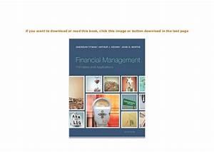 Ebook   Financial Management Principles And Applications