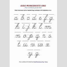Kids Worksheets Alphabet Cursive Handwriting  Handwriting  Cursive Writing Worksheets, Cursive