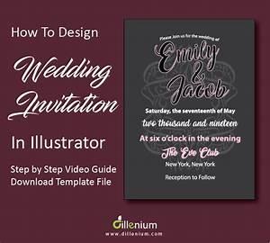 how to design a wedding invitation in adobe illustrator With wedding invitations templates illustrator