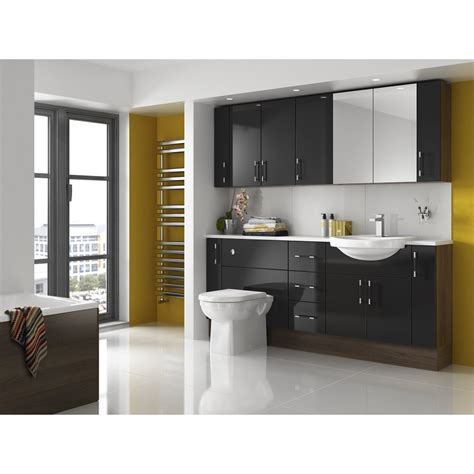 Bathroom Furniture by Shades Aspen Fitted Bathroom Furniture In Black Shades