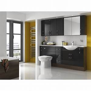 Shades, Aspen, Fitted, Bathroom, Furniture, In, Black