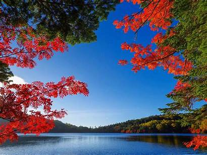 Nature Quotes Fall Wallpapers Lake Autumn Lakes