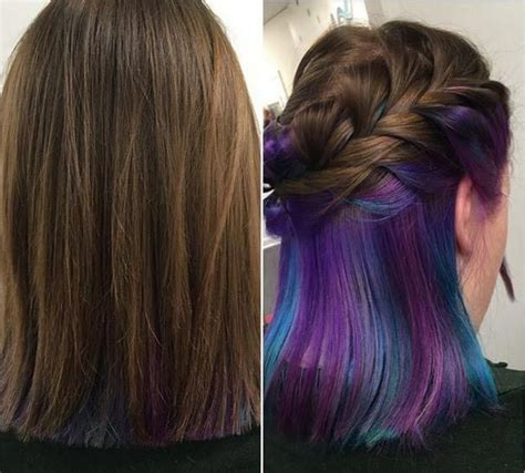Hair With Color Underneath by Underneath Hair Color Styles Whose Brightness