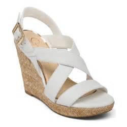 jessica simpson jerrimo platform wedge sandals in white lyst