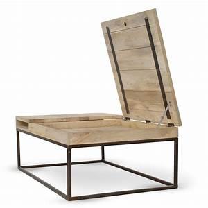 Table Basse Boheme : table basse en bois et m tal de chez guibox avec un coffre et une rallonge pour les soirs de ~ Teatrodelosmanantiales.com Idées de Décoration