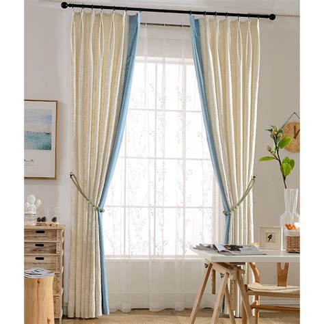 botanical embroidery burlap window curtains on sale
