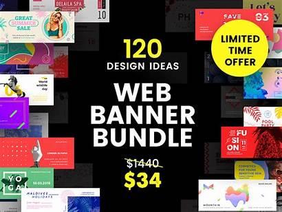 Banner Bundle Web Dribbble Package Ads