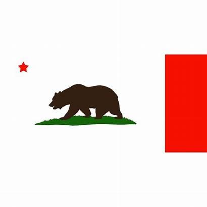 California Flag State Bear Bat Transparent Clipart