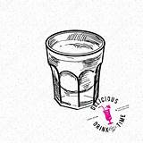 Shot Drawing Whiskey Glass Put Silhouette Vector Single Getdrawings sketch template