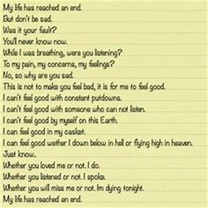 1000+ images about Suicide Letters on Pinterest | Letters ...