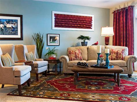 Blue With Red Curtains Living Room Best Site Wiring Harness