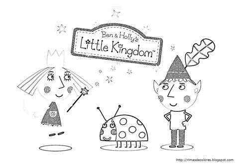 Ben And Holly - Free Colouring Pages