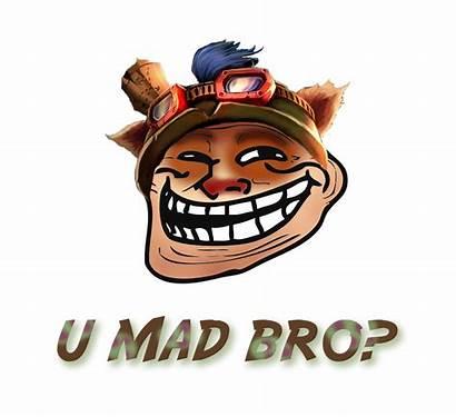 Teemo Lol League Mad Bro Why Evil