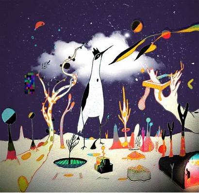 Surreal Animation Landscape Gifs Trippy Nature Animated